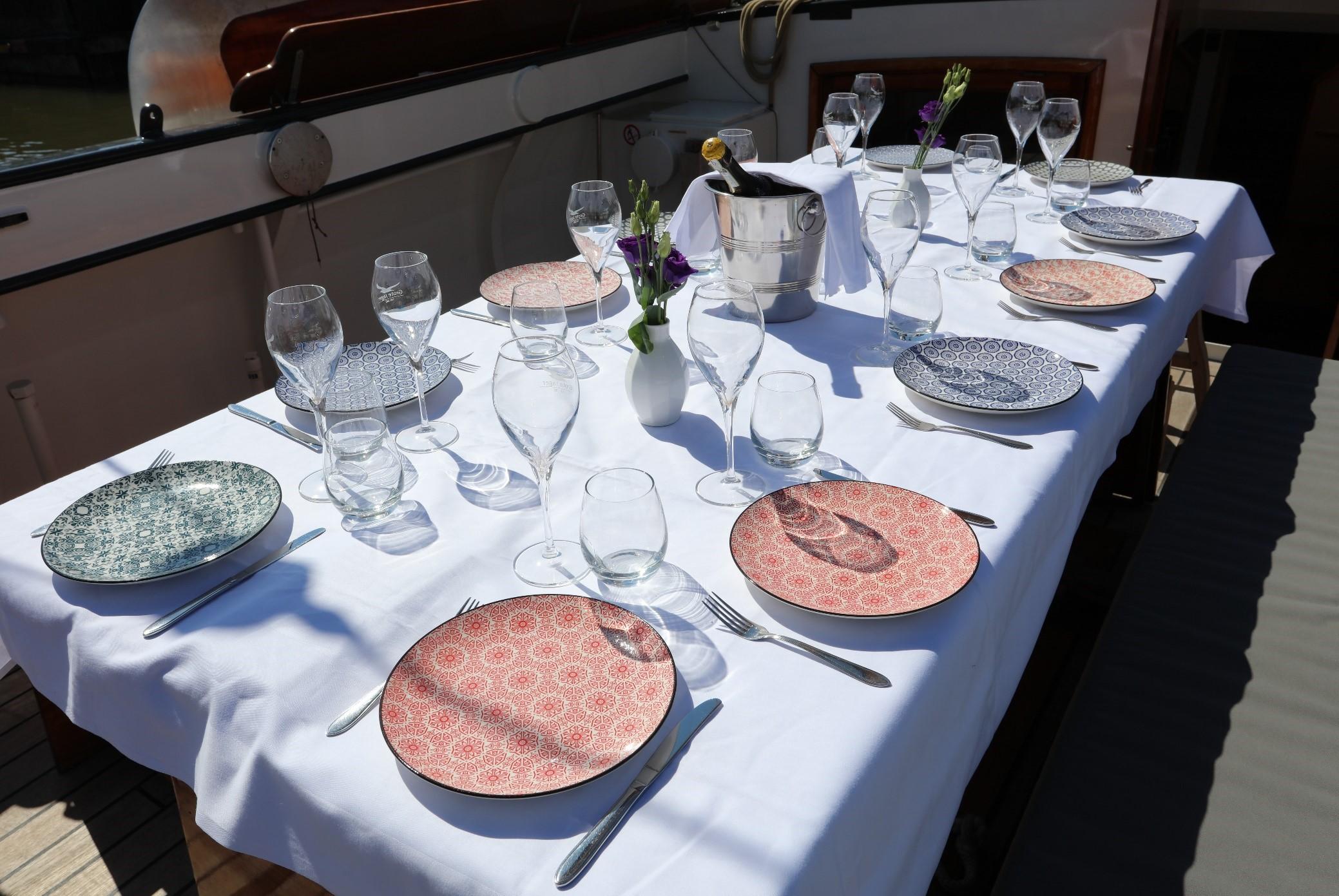 Luxe dineren en zeilen